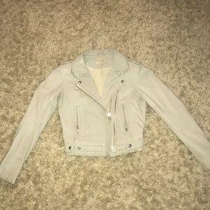 IRO women's leather grey jacket